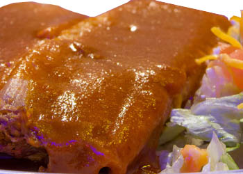 ONE BEEF ENCHILADA & TWO TAMALES